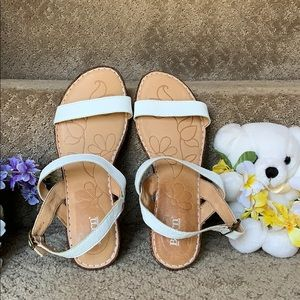 White Strappy  Wedge Sandals